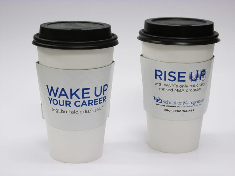 wake up cup sleeve