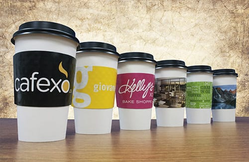 Full color custom cup sleeve pricing