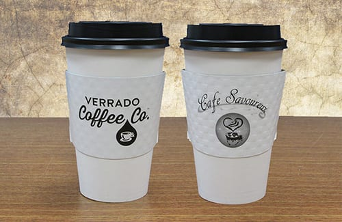 1 color coffee sleeves